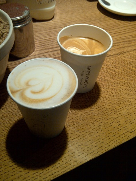 Cappuccino (left), Flat White