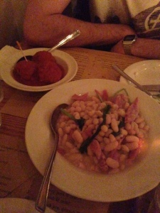 Ham Hock with White Beans & Meatballs