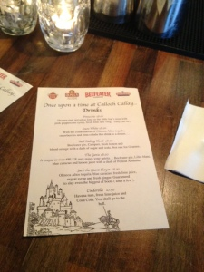 Fairy Tale Themed Cocktail Menu at Callooh Callay