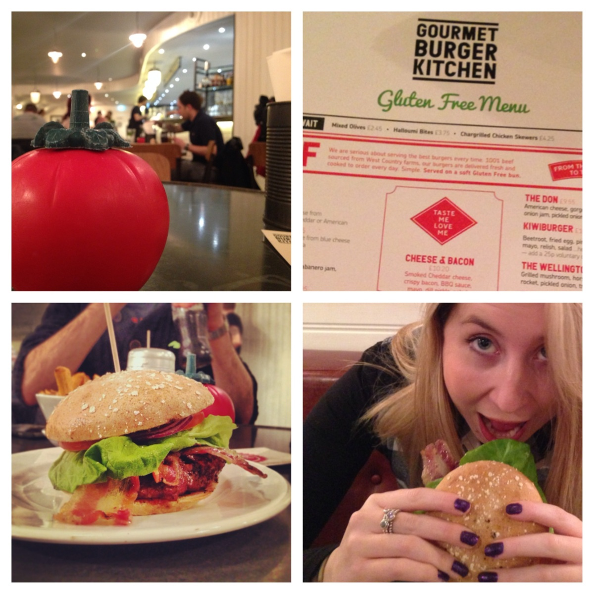 Gluten Free Burgers at Gourmet Burger Kitchen